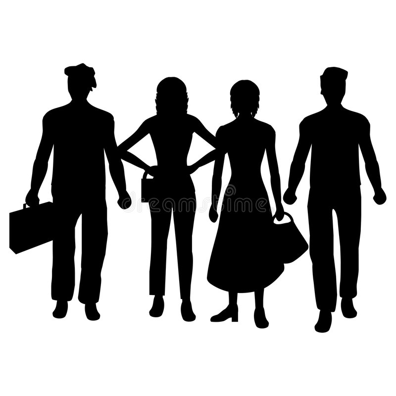 Gruppe von Personen lizenzfreie abbildung