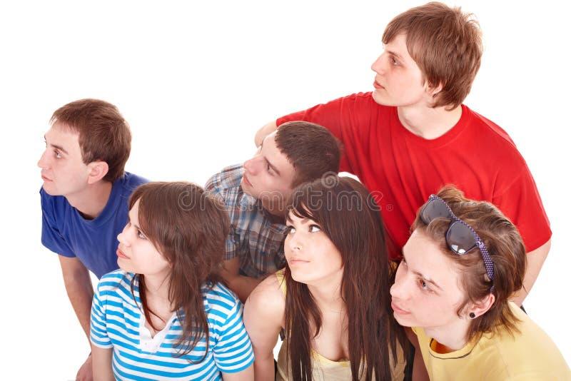 Gruppe von Personen, die weg schaut. lizenzfreie stockbilder