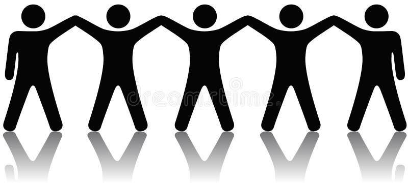 Gruppe von Personen feiern Teamwork lizenzfreie abbildung