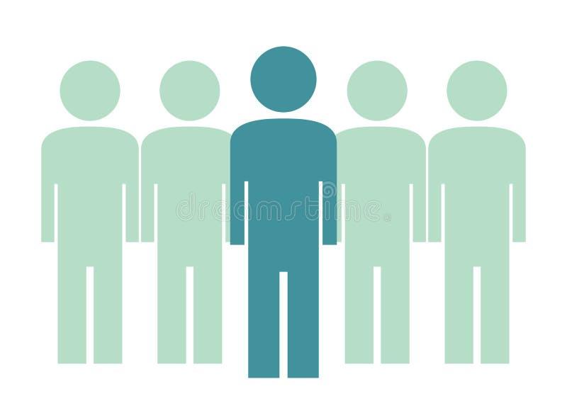 Gruppe von Personen, Management, Vektorikone stock abbildung