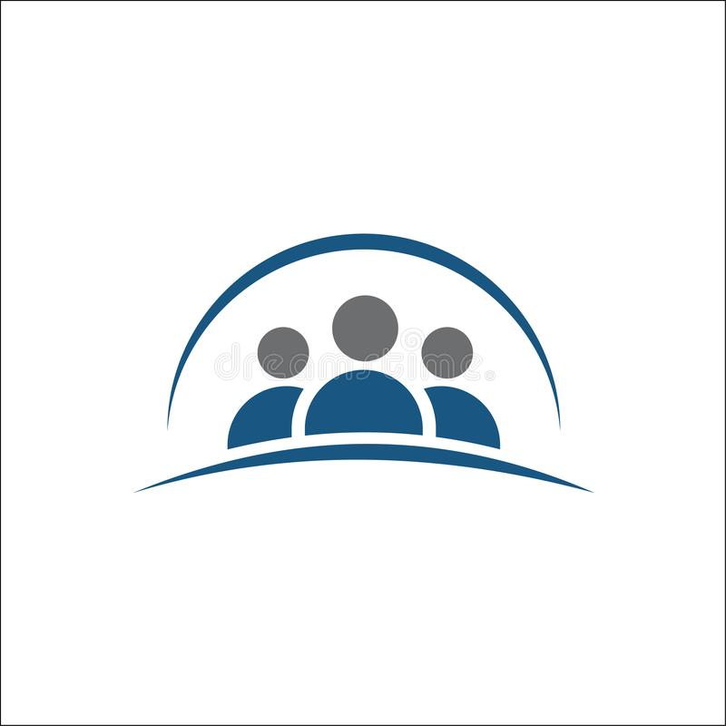 Gruppe von Personenen-Ikone, Freundikone, Logovektorillustration stock abbildung