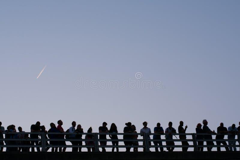 Gruppe von Personenen-Schattenbild stockbilder