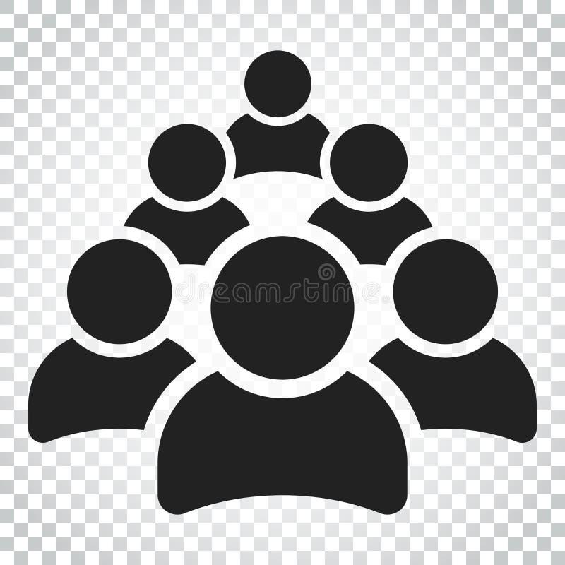 Download Gruppe Von Personenen-Vektorikone Personenikonenillustration Einfaches B Vektor Abbildung - Illustration von menschlich, gruppe: 96935782