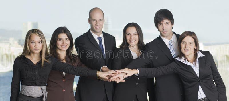 Gruppe von sechs Wirtschaftlern lizenzfreie stockfotos