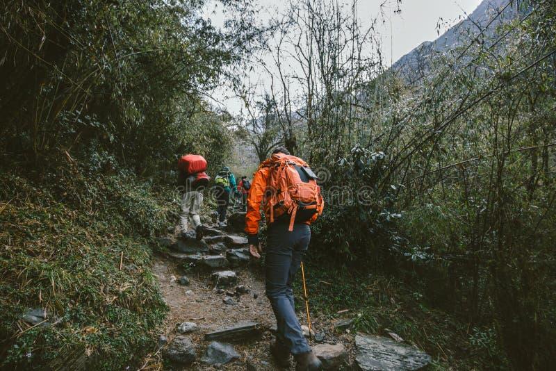 Gruppe Wanderer stockbilder