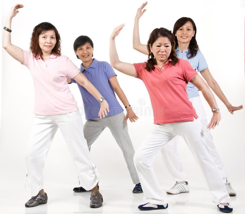 Gruppen-Übung stockbild