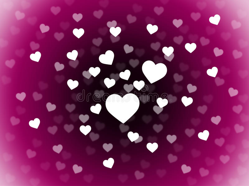 Gruppen av hjärtabakgrund betyder dragningsaffektion och i Lo vektor illustrationer