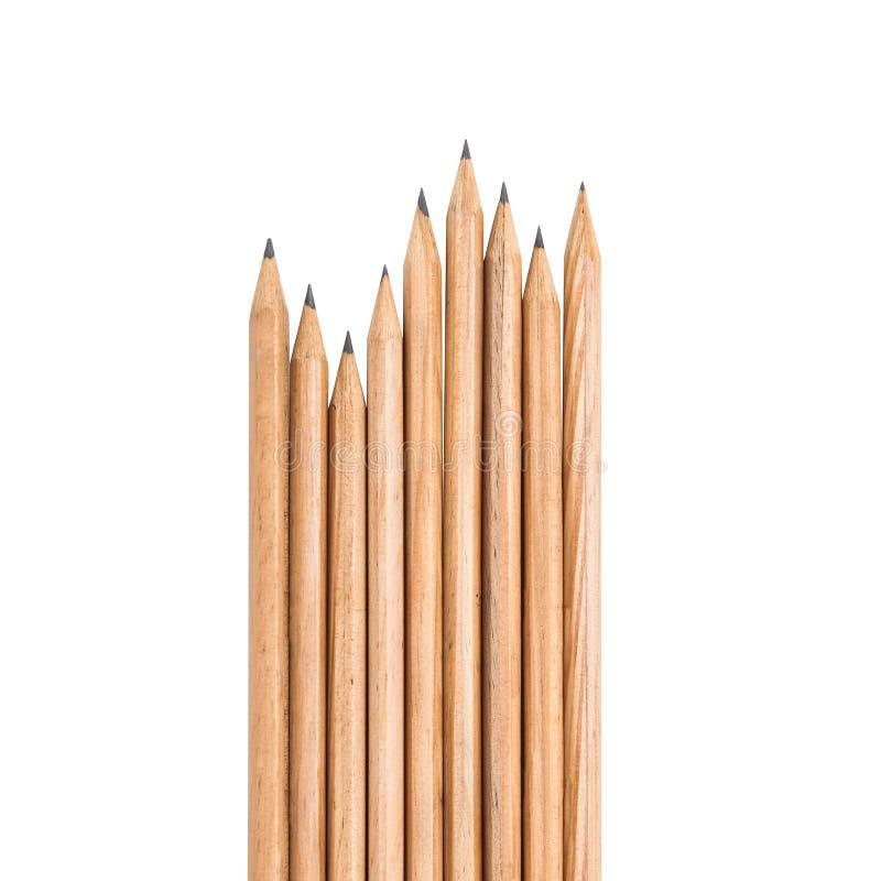 Gruppen des hölzernen Bleistifts stockfoto