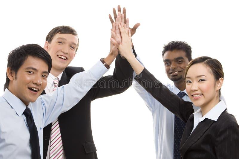 Gruppen-Geschäft - Hohe Fünf Lizenzfreie Stockfotografie
