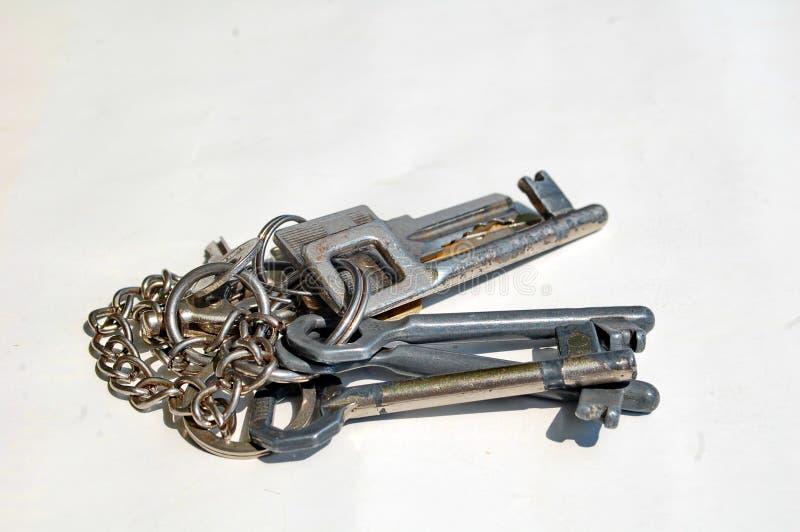gruppen keys white royaltyfri fotografi