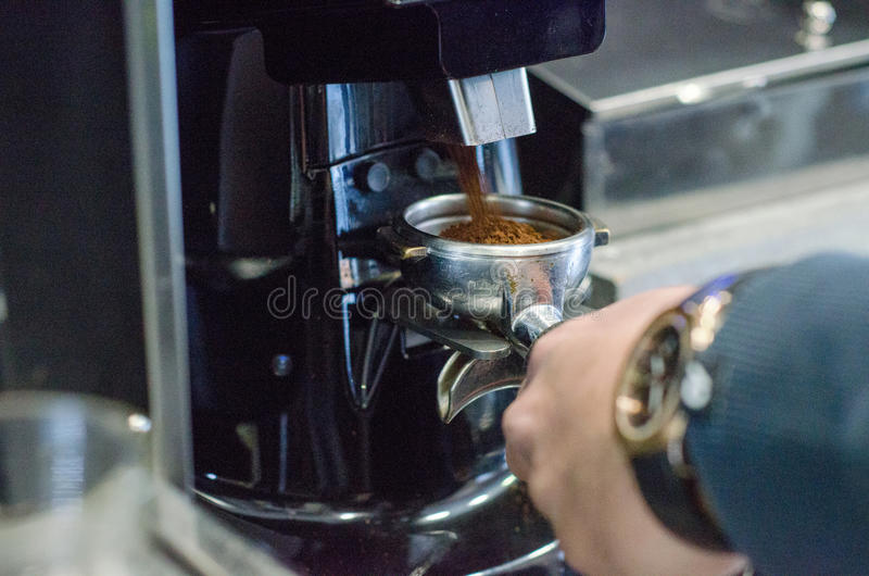 Gruppenanführerkaffeemaschine lizenzfreie stockfotos