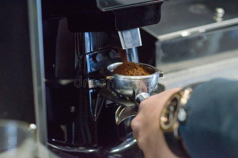 Gruppenanführerkaffeemaschine stockfotografie