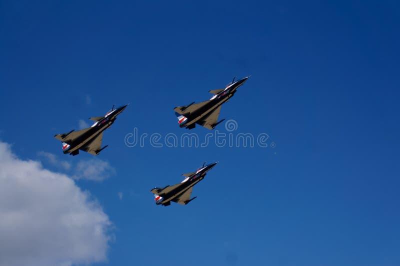 Gruppenkunstfliegenflugzeuge stockfoto