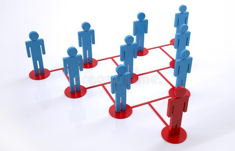 Gruppenleiter lizenzfreie abbildung