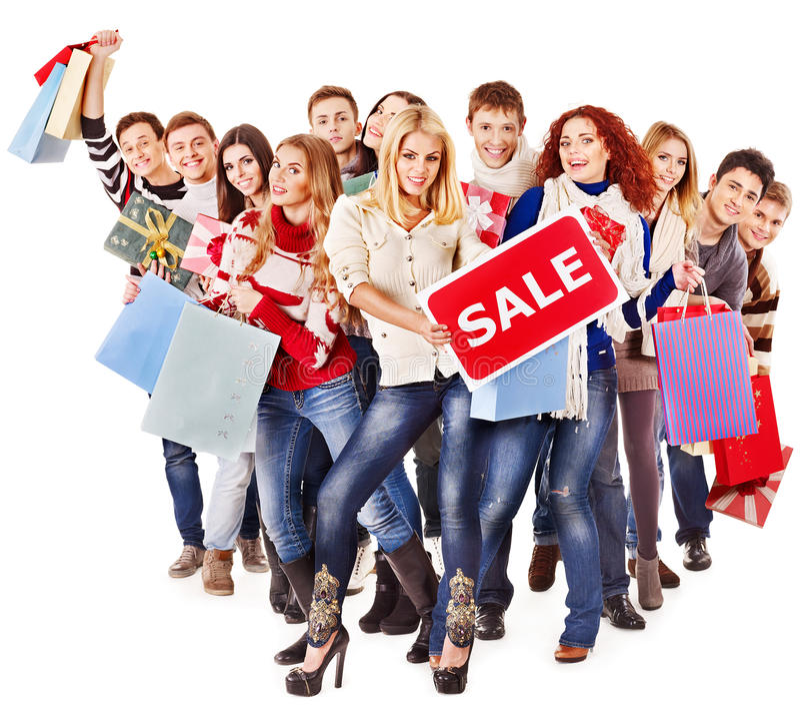 Gruppenleute mit Vorstandverkauf. lizenzfreie stockbilder