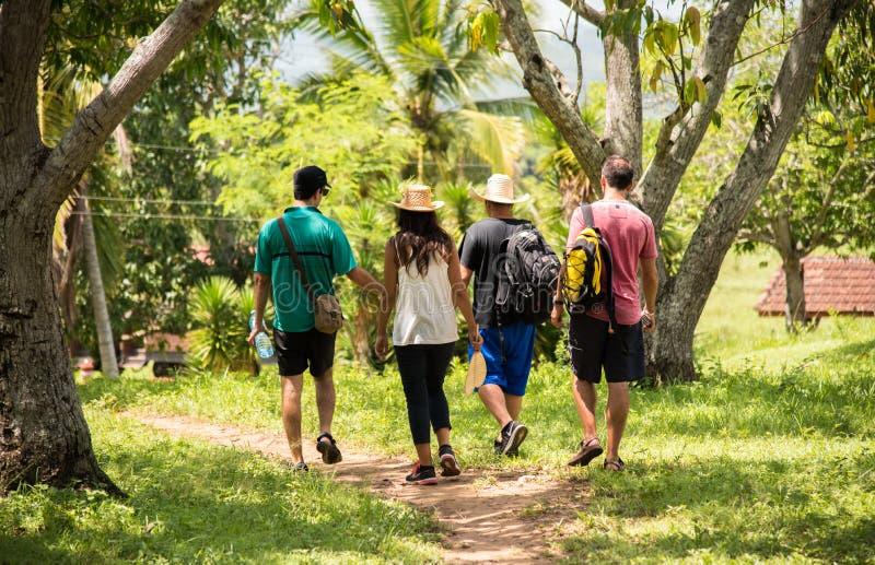 Gruppenreise in Trinidad, Kuba lizenzfreie stockfotografie