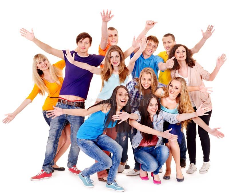 Gruppensportfreundbeifall für. lizenzfreie stockbilder
