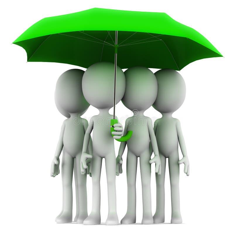 Gruppenversicherung lizenzfreie abbildung