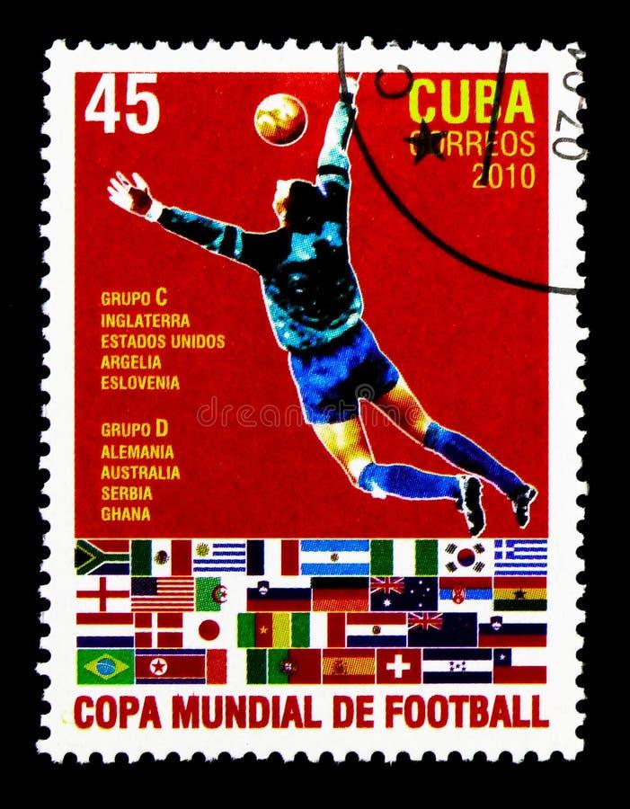 Grupper C & D, fotbollvärldscup - Sydafrika serie, circa 2010 royaltyfria foton