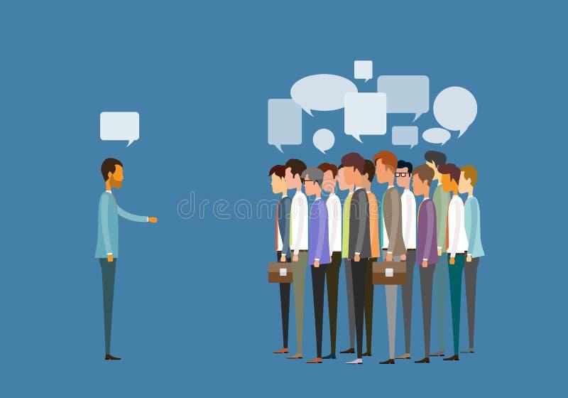 Gruppera begreppet för folkaffärsmötet och för affärskommunikationen royaltyfri illustrationer