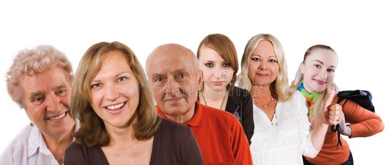 gruppera folk royaltyfri foto
