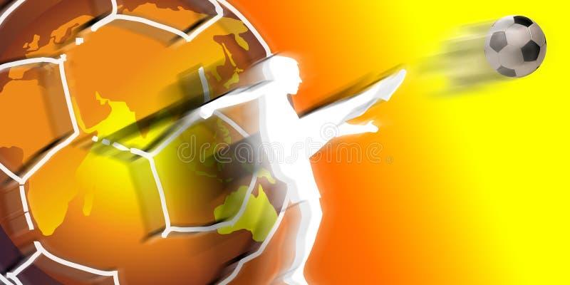 gruppfotbollsspelarevärld stock illustrationer