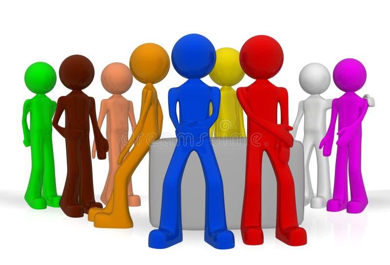 Gruppfoto stock illustrationer