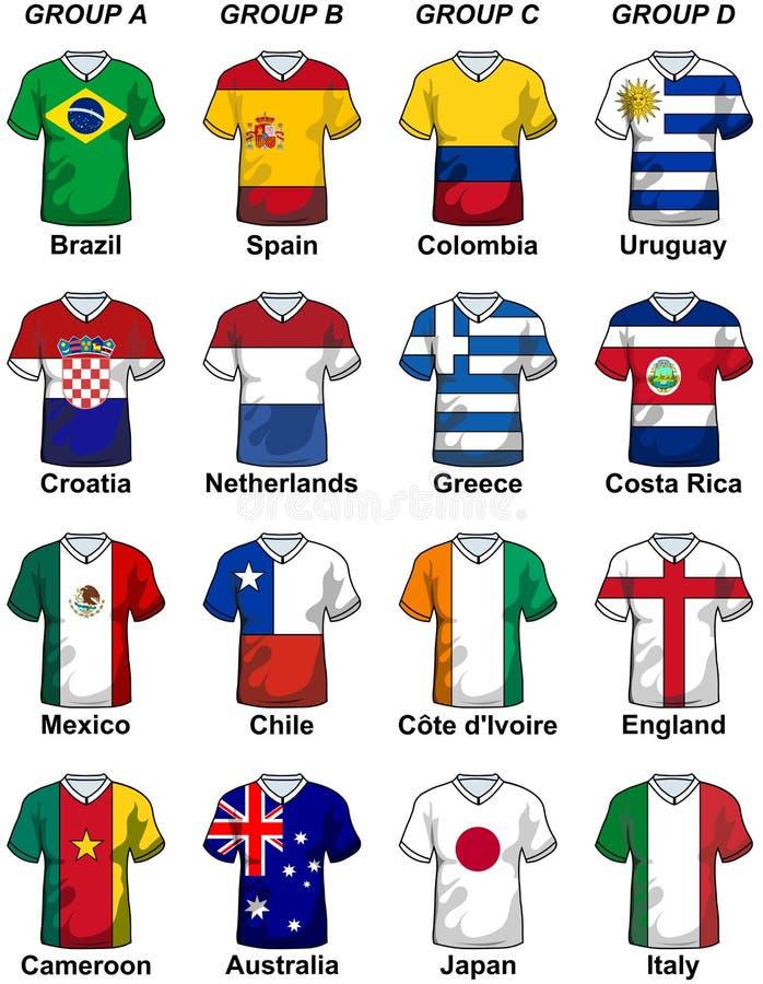 Gruppi 2014 del Brasile della coppa del Mondo di Fifa illustrazione di stock