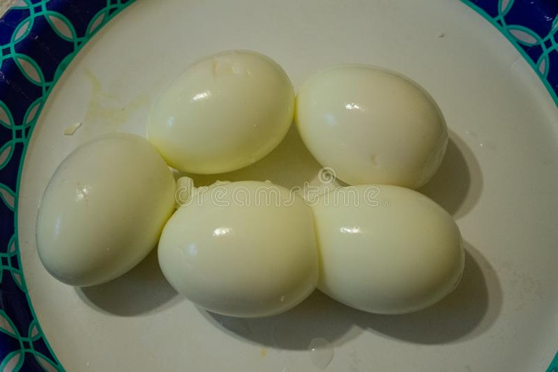Gruppiert von gekochten Eiern lizenzfreies stockbild