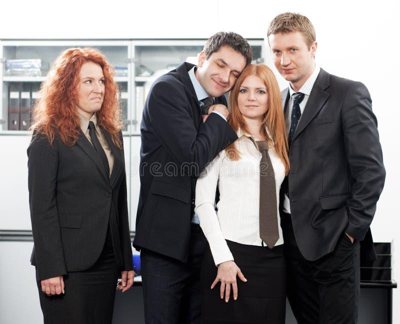 gruppkontorsarbetare arkivbild