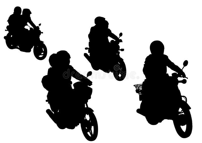 gruppmotorcykel stock illustrationer