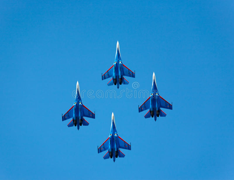 Gruppo Aerobatic immagini stock