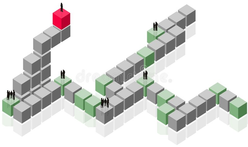 Gruppo astratto, lavoro della squadra, commercio del cliente illustrazione di stock