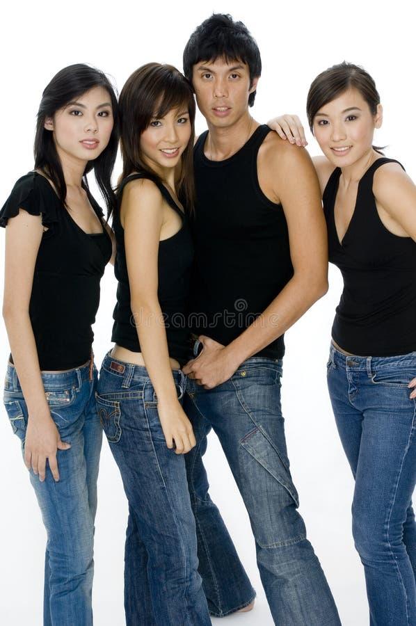 Gruppo attraente fotografie stock