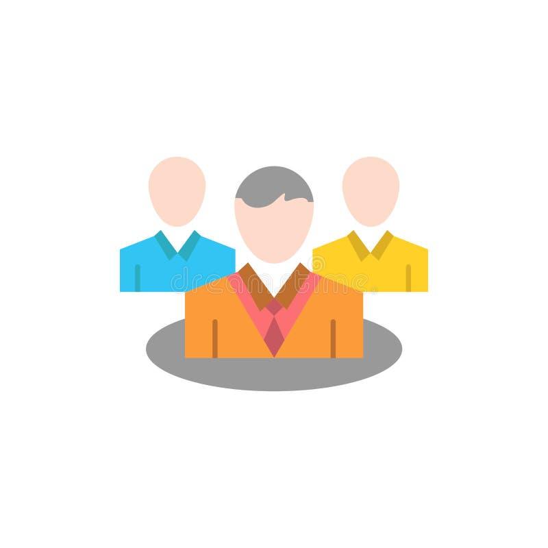 Gruppo, chiacchierata, gossip, icona piana di colore di conversazione Modello dell'insegna dell'icona di vettore illustrazione vettoriale