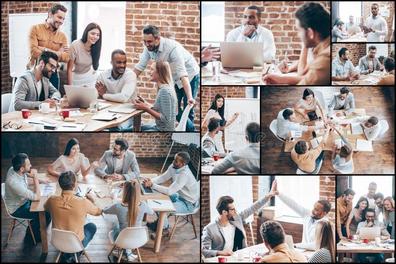 Gruppo creativo sul lavoro fotografia stock libera da diritti