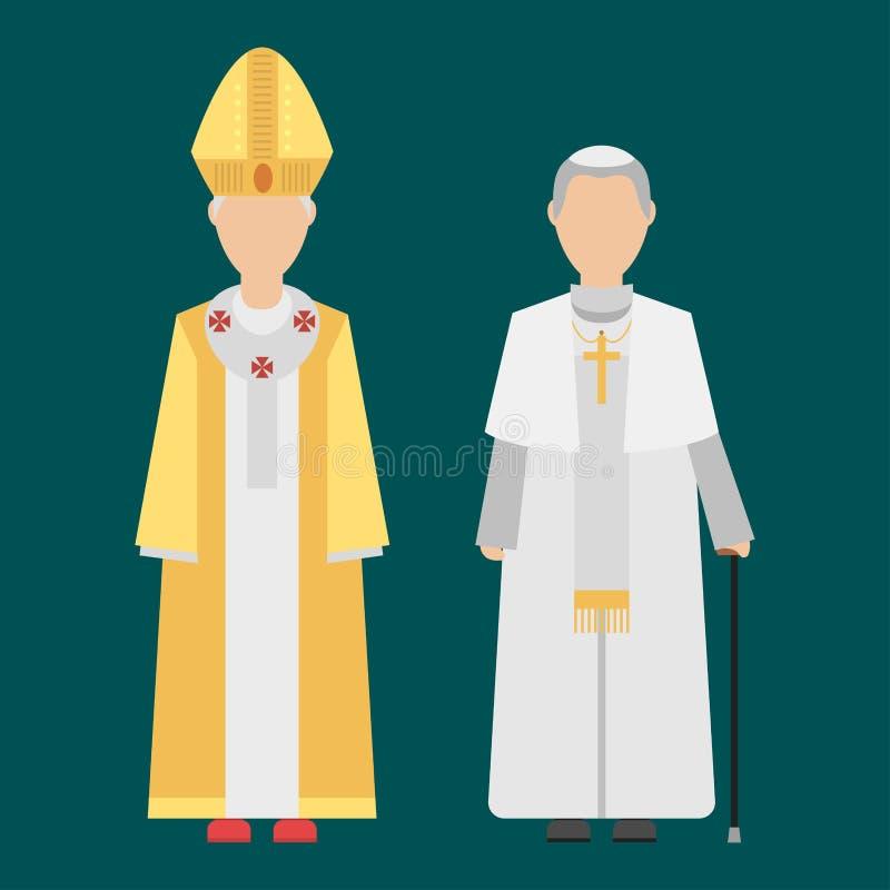 Gruppo dei caratteri della gente di religione di vestiti tradizionali d'uso umani di nazionalità differenti royalty illustrazione gratis