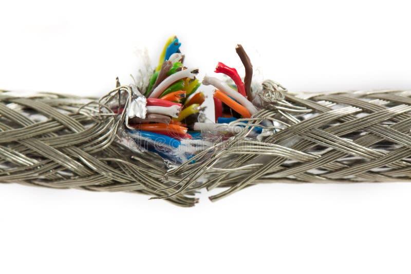 Gruppo dei cavi di colore fotografia stock