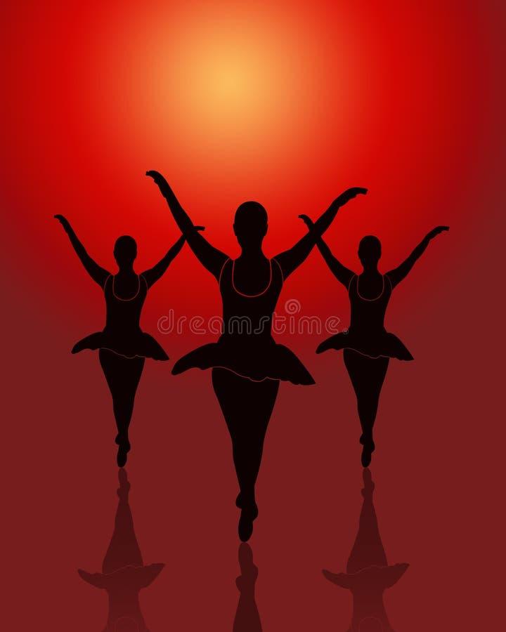 Gruppo dei danzatori di balletto illustrazione vettoriale