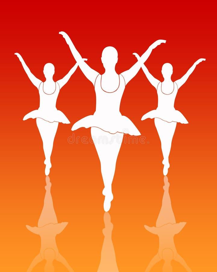 Gruppo dei danzatori di balletto royalty illustrazione gratis