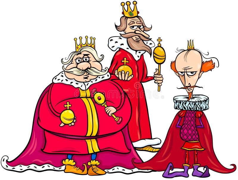 Gruppo del carattere di fantasia del fumetto di re royalty illustrazione gratis