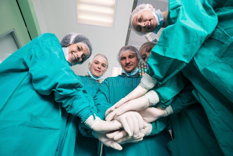 Gruppo del chirurgo fotografia stock