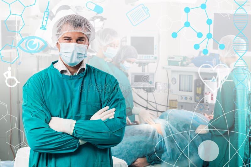 Gruppo del chirurgo in uniforme immagine stock libera da diritti
