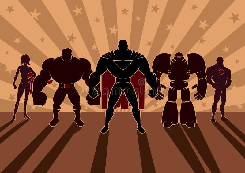 Gruppo del supereroe royalty illustrazione gratis