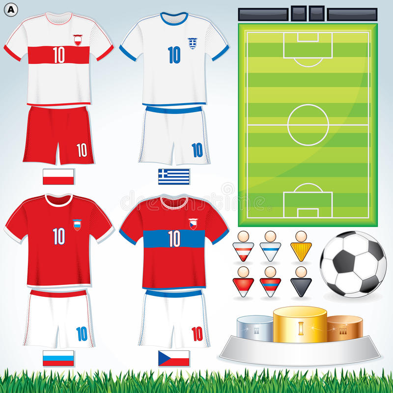 Gruppo A dell'euro 2012 illustrazione di stock