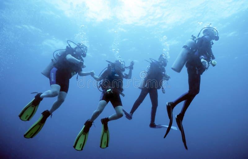 Gruppo dell'operatore subacqueo fotografie stock libere da diritti