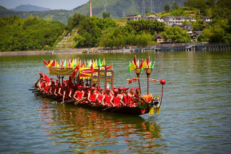Gruppo della corsa di Dragon Boat Festival DaoTai fotografia stock libera da diritti