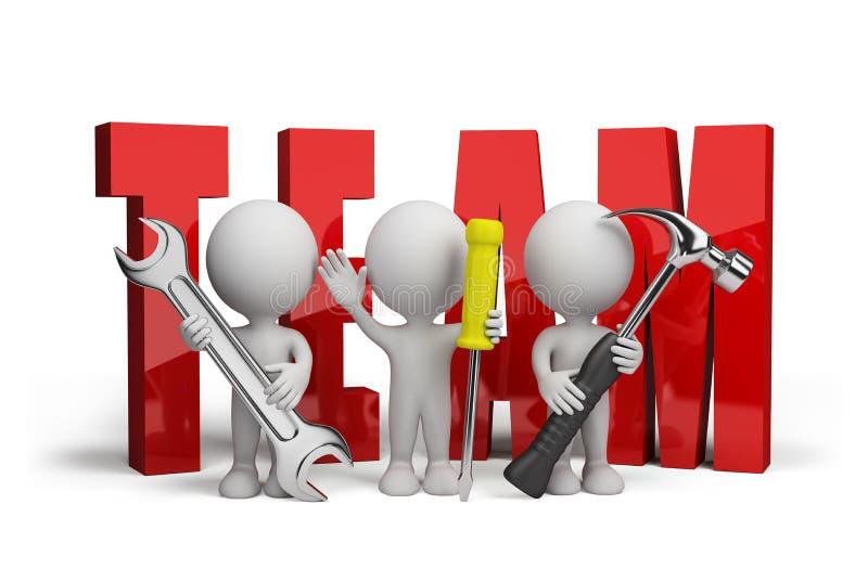 gruppo della persona 3d dei riparatori illustrazione di stock