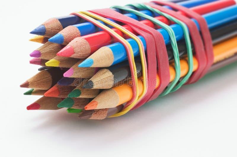 Gruppo delle matite di colore immagine stock