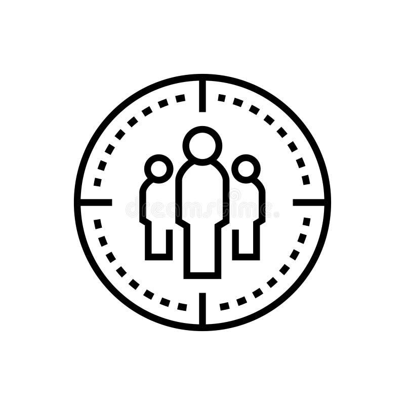 Gruppo di affari - allini la singola icona isolata di progettazione royalty illustrazione gratis